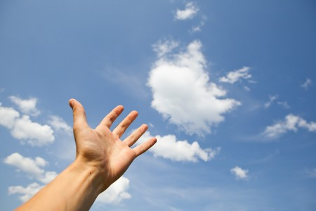 health questions: hand reach for the sky