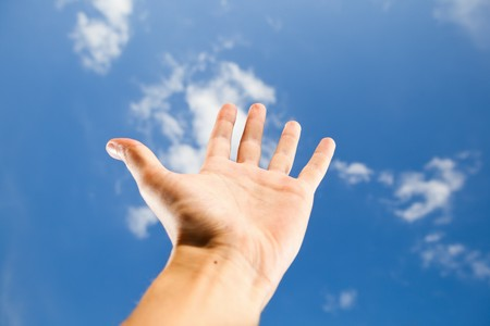 hand reach for the sky Stock Photo - 7962769