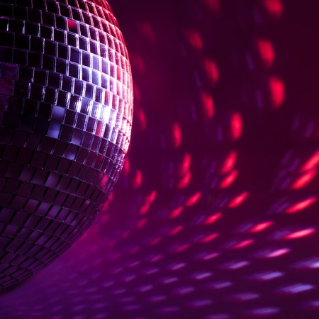 purple disco background Stock Photo - 7962711