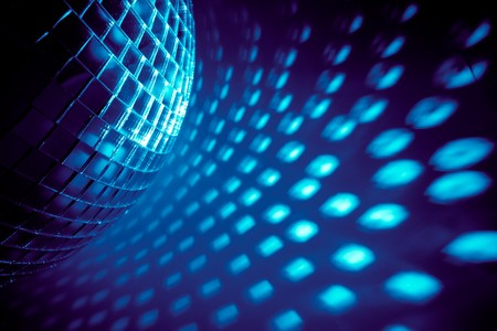 blue disco background photo