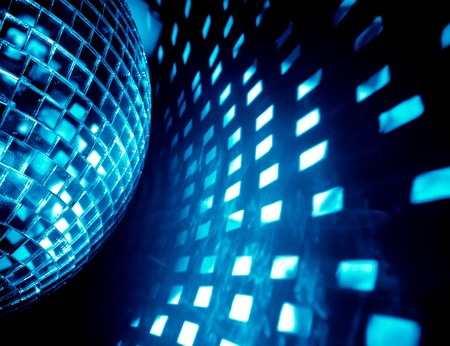 the club: blue disco background