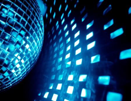 club: sfondo discoteca blu  Archivio Fotografico