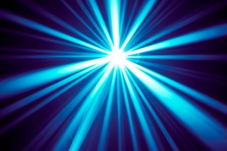 rave: blue disco rays Stock Photo