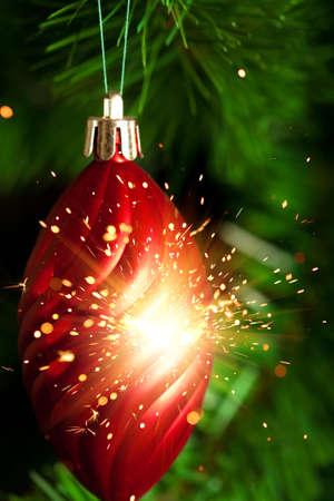 glare: Christmas-tree decoration with glare sparkles