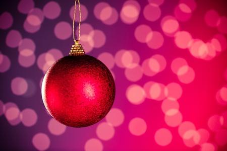 Christmas decoration against bokeh background photo