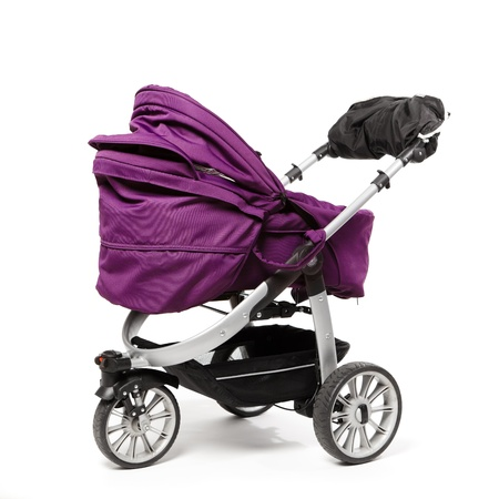 buggy: baby stroller isolated on white Stock Photo
