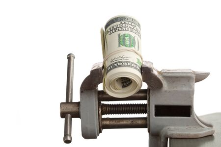 vice: money in the vice tool isolated on white