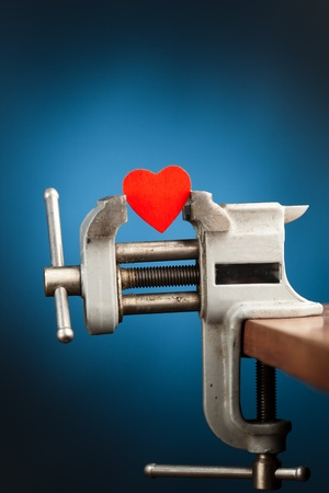 red heart in the vice tool photo