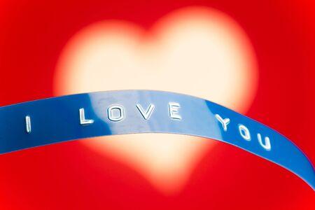 i love u: i love you card