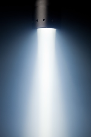 beam of defuse light in the fog photo