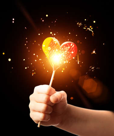 magic candy heart Stock Photo - 9040420