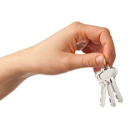 hand holding bunch of keys photo