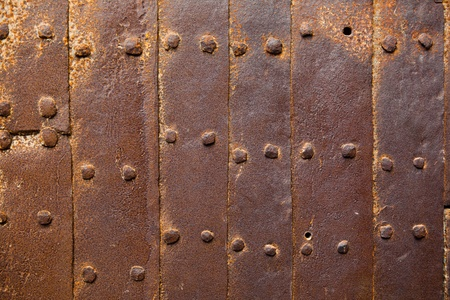 oxidized: old rusty rivets background Stock Photo