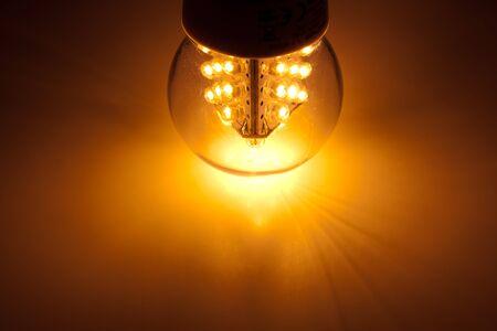 lit lamp: led bulb light Stock Photo