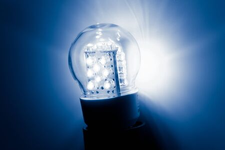 resourceful: led bulb light Stock Photo