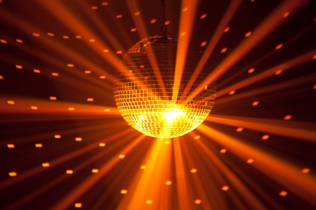 golden party lights background