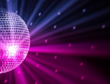 musica electronica: luces de fiesta disco ball Foto de archivo