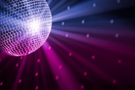 disco parties: luces de partido discoteca bola Foto de archivo