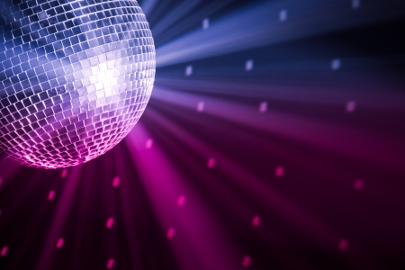 blue ball: party lights disco ball Stock Photo