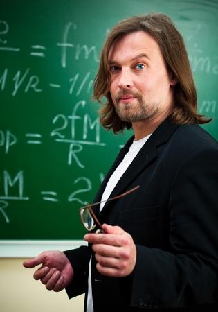 profesor: profesor de f�sica Foto de archivo