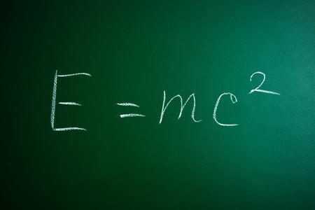equivalence: mass-energy equivalence formula on the blackboard