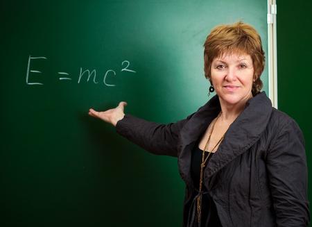equivalence: physics professor Stock Photo