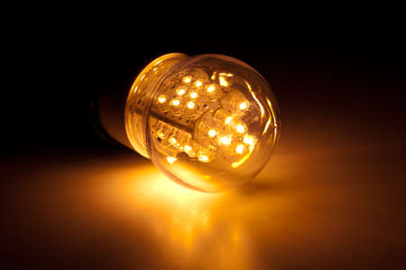 led lamp: led bulb light Stock Photo