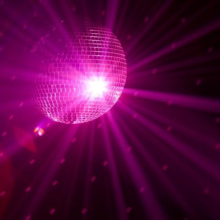 disco backdrop: purple party background Stock Photo