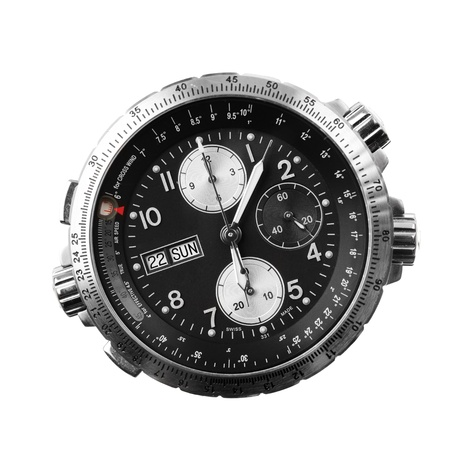 military watch: chronograph isolated on white Stock Photo