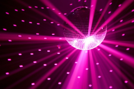 purple party lights background Stock Photo - 9844749
