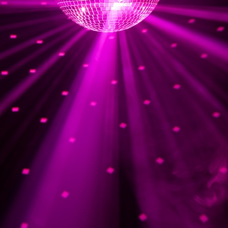 holiday lighting: purple party background Stock Photo