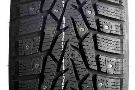 Winter thorn tire closeup Stock Photo - 11548948