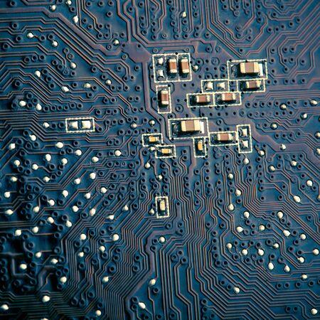 printed circuit board, closeup photo