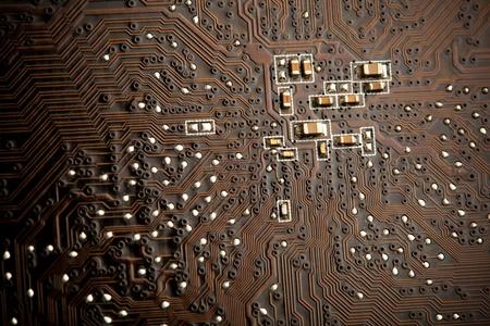 printed circuit board, closeup Stock Photo - 11640264