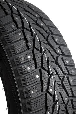 vulcanization: Winter thorn tire closeup