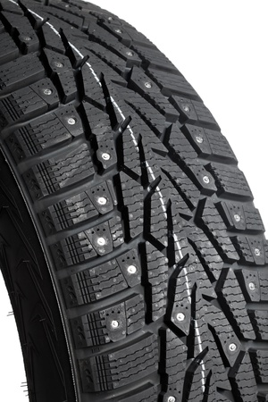 Winter thorn tire closeup Stock Photo - 11640256