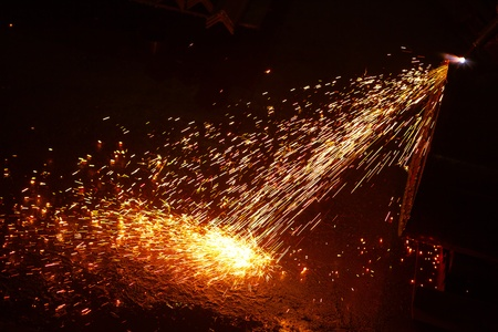 welding sparks Stock Photo - 11640262