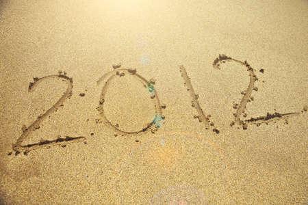 new year 2012, beach style photo
