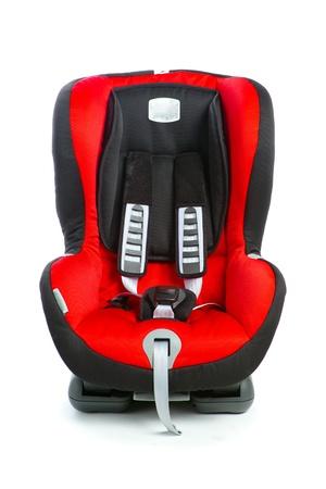 아기 자동차 좌석, 흰색에 고립 스톡 콘텐츠
