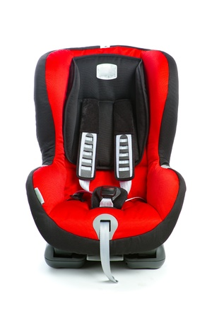 baby car seat, isolated on white photo