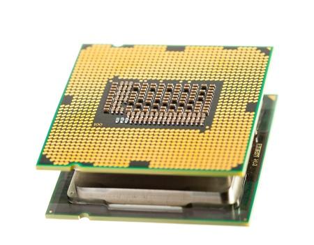 multicore: cpu processor isolated on white