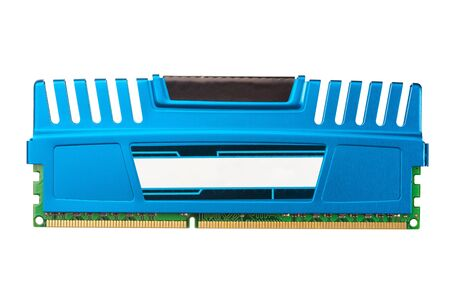 dimm: modern ddr ram memory isolated on white