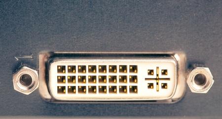 dvi: dvi port on graphic card Stock Photo