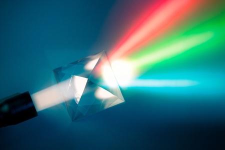 prisma: dispersión de la luz natural