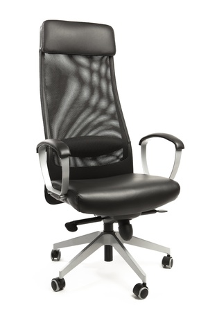 executive chair: office armchair isolated on white Stock Photo