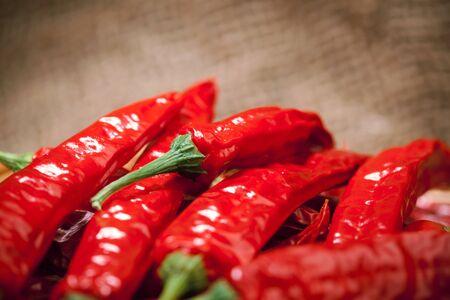 moltitudine: moltitudine di peperoncino rosso, closeup vista Archivio Fotografico