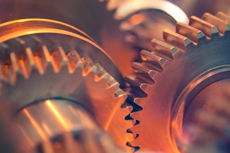 mechanical engineering: abstract gears Stock Photo
