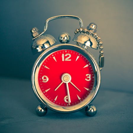 vintage red alarm clock Stock Photo - 13056988
