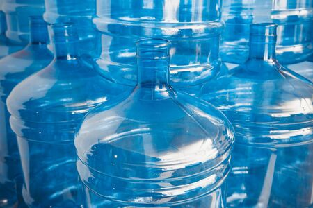 big empty water bottles at warehouse Stock Photo - 14221391