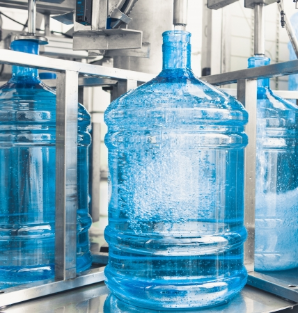 gallon: drink water production line Stock Photo